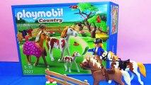 Pré pour les chevaux Playmobil - Faire du cheval et les nourrir démo du jeu 5227