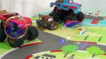 Mater Popping Bubbles Disney Cars Lightning McQueen Blowing Bubbles Cars Monster Trucks
