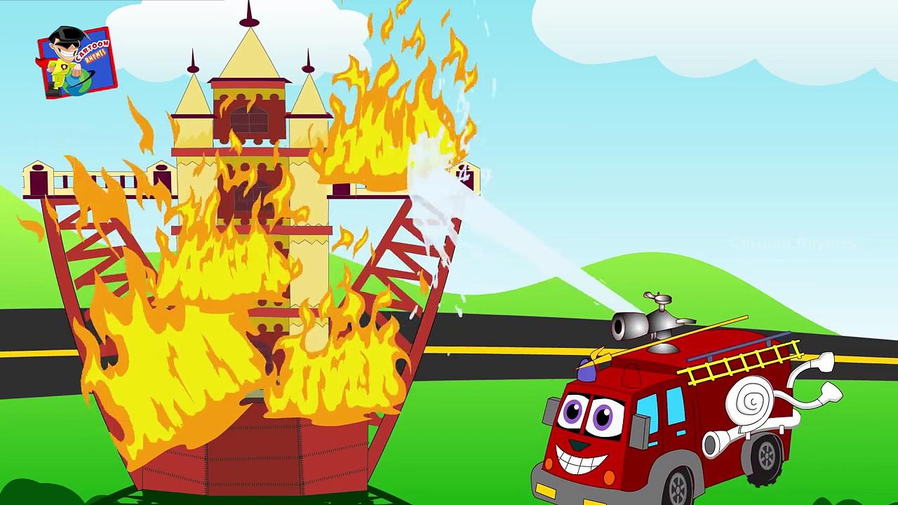 Fire Truck Cartoon | Kids Fire Engine Videos | Cartoon Videos for Children