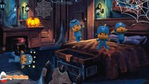 Halloween Five Little Pocoyo Jumping on the Bed | Five Little Monkeys Jumping on the Bed Kids Songs
