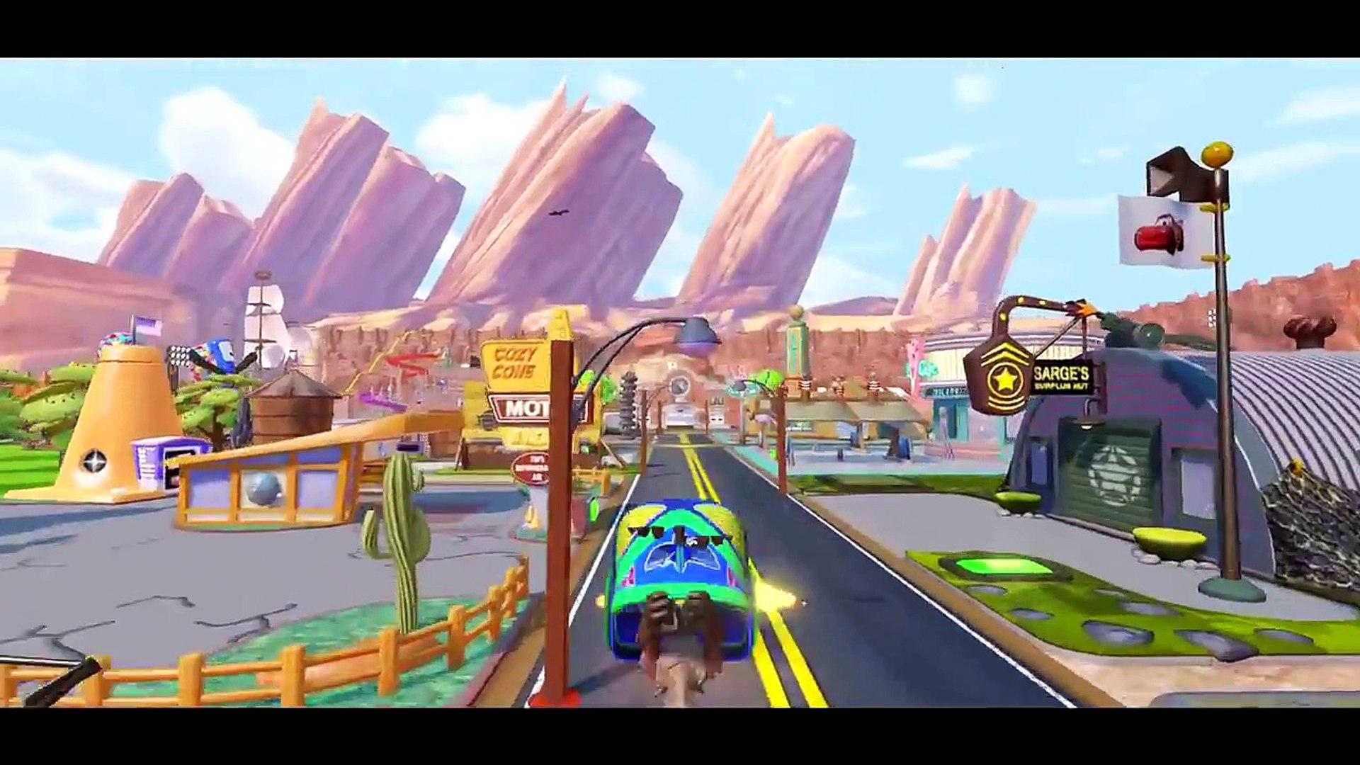 Spiderman & Groot meet Disney Pixar Cars Lightning McQueen and have fun !