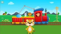 Animals Zoo Train | Teaching Animals Video for Children | Learning Zoo Animals Names | Animals Fun