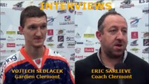 Hockey sur Glace D1 - 2016-12-17 Interviews Eric Sarlieve - Vojtech Sedlacek Sangliers Arvernes Clermont-Ferrand