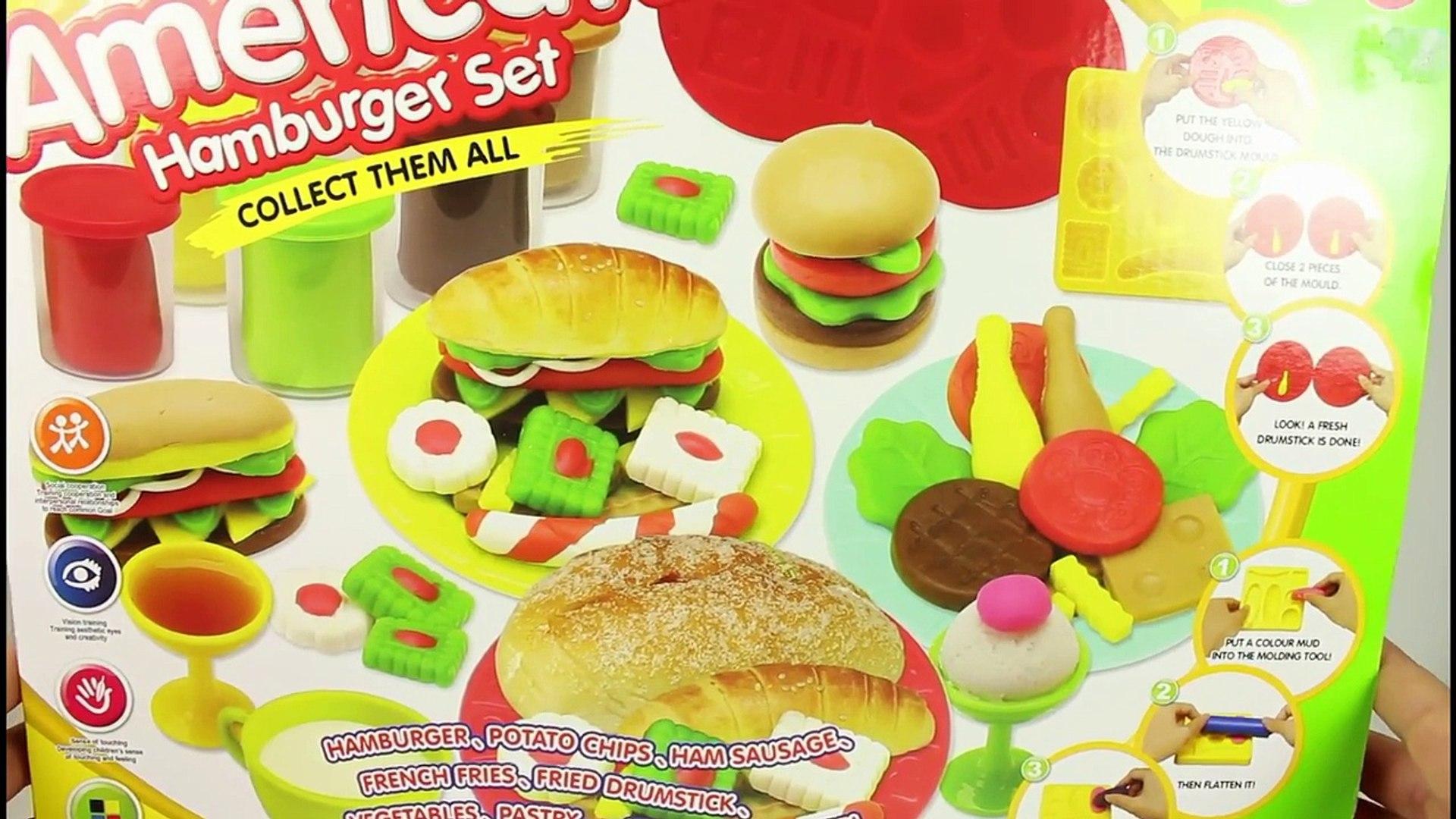Play Dough American Hamburger Set 2016 (Plasticine)