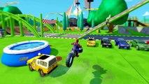 Disney Pixar Cars Mcqueen Red Spiderman & Hulk Finger Family Wheels On The Bus | Nursery Rhymes