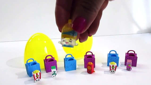 SHOPKINS Posh Pear Giant hand made Play-Doh Surprise Egg Filled with Shopkins Season 1 Surprise