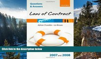 Buy Adrian Chandler Q and A: Law of Contract 2007 - 2008 (Blackstone s Law Questions and Answers)