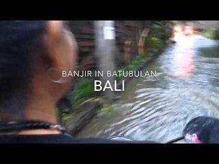 Banjir: Art Fazil with Balinese artist Putu Bonuz in Batubulan, Bali