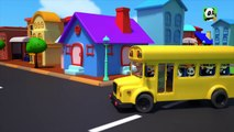 Bao Panda | the wheels on the bus | nursery rhymes | baby songs | childrens rhymes | 3d rhymes