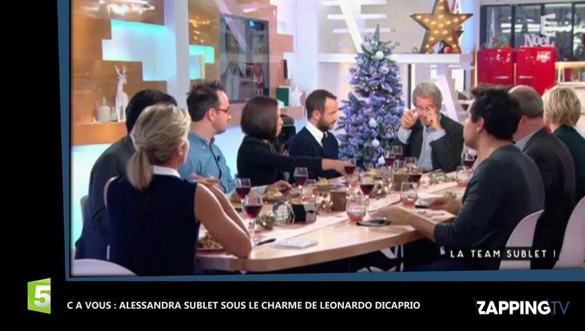 C à Vous : Alessandra Sublet avoue avoir été très impressionnée par Leonardo DiCaprio (déo)