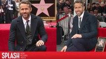 Ryan Reynolds schwärmt bei seiner Hollywood Walk of Fame Zeremonie von seiner Familie