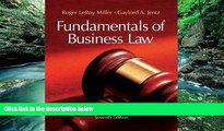 Buy Roger LeRoy Miller Fundamentals of Business Law Summarized Cases (with Online Legal Research