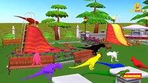 Learn Colors with Dinosaurs T-Rex | Preschool Kids Nursery Rhymes | Popular Cartoon Animation Rhymes