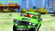 Colors Cars Hummer in Trouble! Nursery Rhymes New #Colors Spiderman Songs for #Children with Action