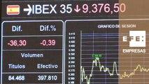 El Ibex 35 mantiene las pérdidas y se sitúa en los 9.375 puntos