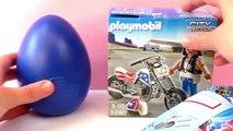Motorrijder met chopper Playmobil City Action 5280 | Coole rocker met leren jas en vette motor