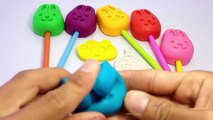 Play and Learn Colors with Play Dough Rabbit Lollipops Molds Fun Angry birds and Creative for Kids