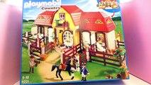 Grande écurie Playmobil – Ecurie pour nos chevaux et un grand espace pour faire du cheval