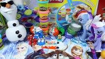 Surprise Eggs !! Disney Frozen Elsa Anna Minnie Mickey Play-Doh kinder surprise joy eggs