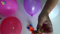 Aprende los colores con globos Sorpresa de Los Minions, Los simpson...
