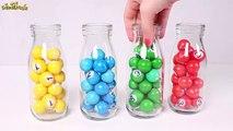 Aprender los colores con bolas de colores en tarros de cristal  Juegos Para Niños y Niñas