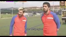 Leo Messi & Luis Suarez shoot down drones on Japanese TV