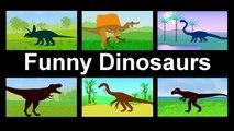 Funny Dinosaurs Cartoons for kids - Tyrannosaurus Rex vs Giganotosaurus. Dinosaurs for Children