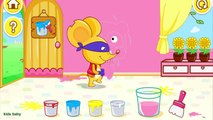 Children Learn Color Mixing Fun - Color Mixing Studio Panda