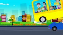 wheels on the bus go round and round | nursery rhymes | kids songs | childrens rhymes