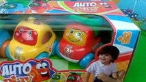 Little Cars unboxing Micky Mouse Surprise Egg with Peppa Pig Birthday Party