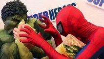 Spiderman Cooking Big Mac with Frozen Elsa & Hulk ★ Fun Superheroes Movies Superhero Prank Videos