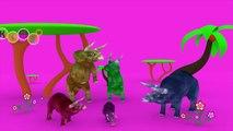 Dinosaurus 3D Funny Crazy Finger Family Triceraptops Dancing Nursery Rhymes By KidsW