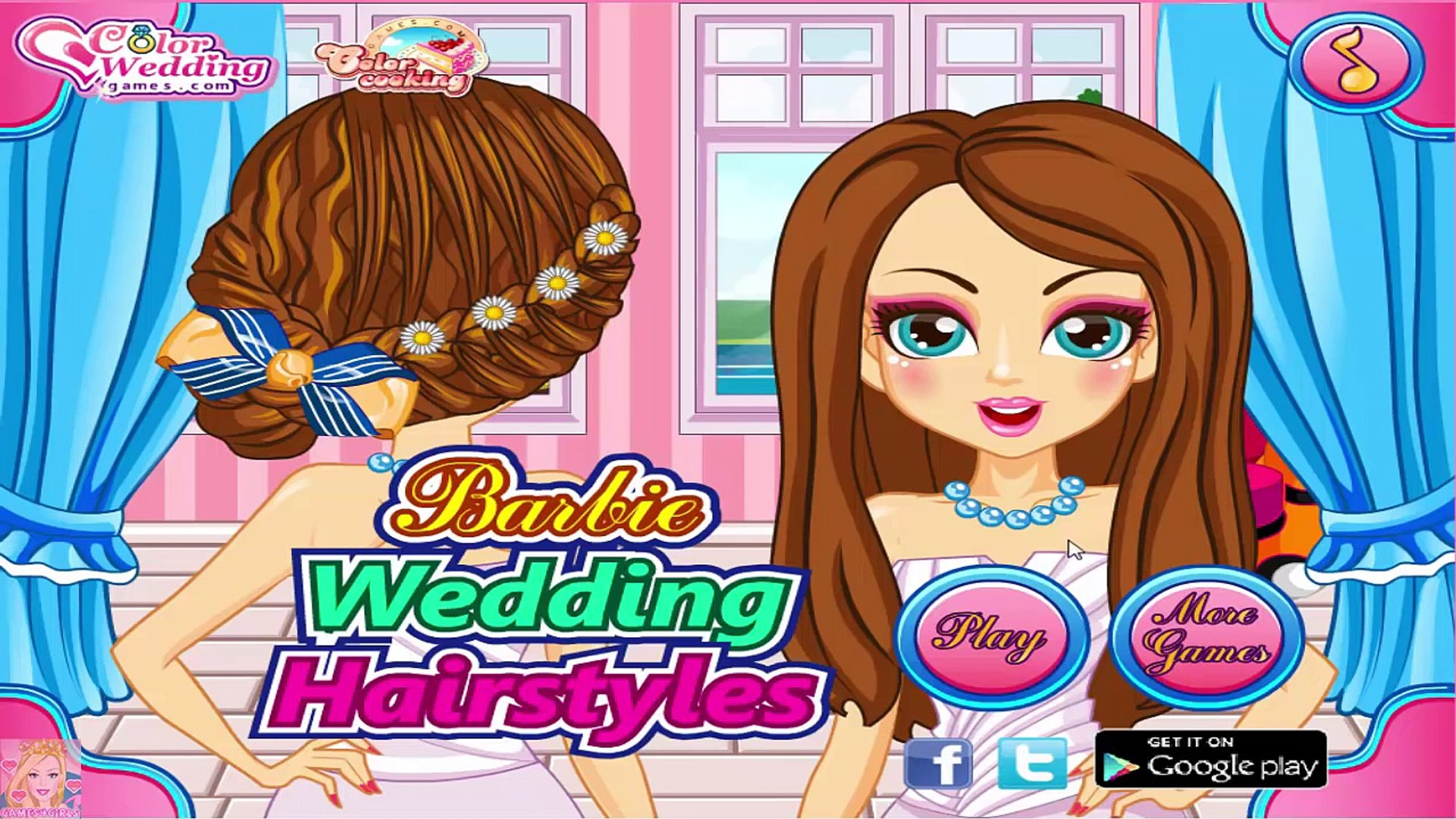 Barbie Wedding Hairstyles Barbie Games For Girls