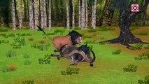 Lion Vs Wild Buffalo | Lion Attacks Buffalo Short Film | Animals Fighting Compilation