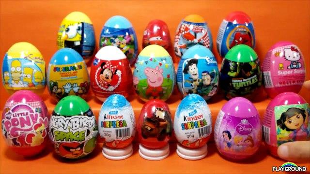20 Surprise Eggs Unboxing,Disney Surprise Eggs,Kinder Surprise eggs
