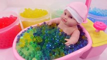 DIY Baby Doll Orbeez Bath Time How To Make Colors Water Ball Learn Colors