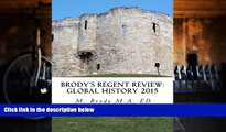 Pre Order Brodys Regent Review: Global History 2015: Global regents review in less than 100 pages