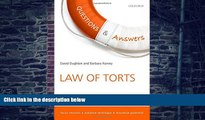 Buy  Q A Revision Guide Law of Torts 2015 and 2016 (Concentrate Law Questions   Answers) David