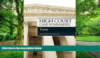 Buy  High Court Case Summaries on Torts, Keyed to Dobbs, Publisher s Editorial Staff  Full Book