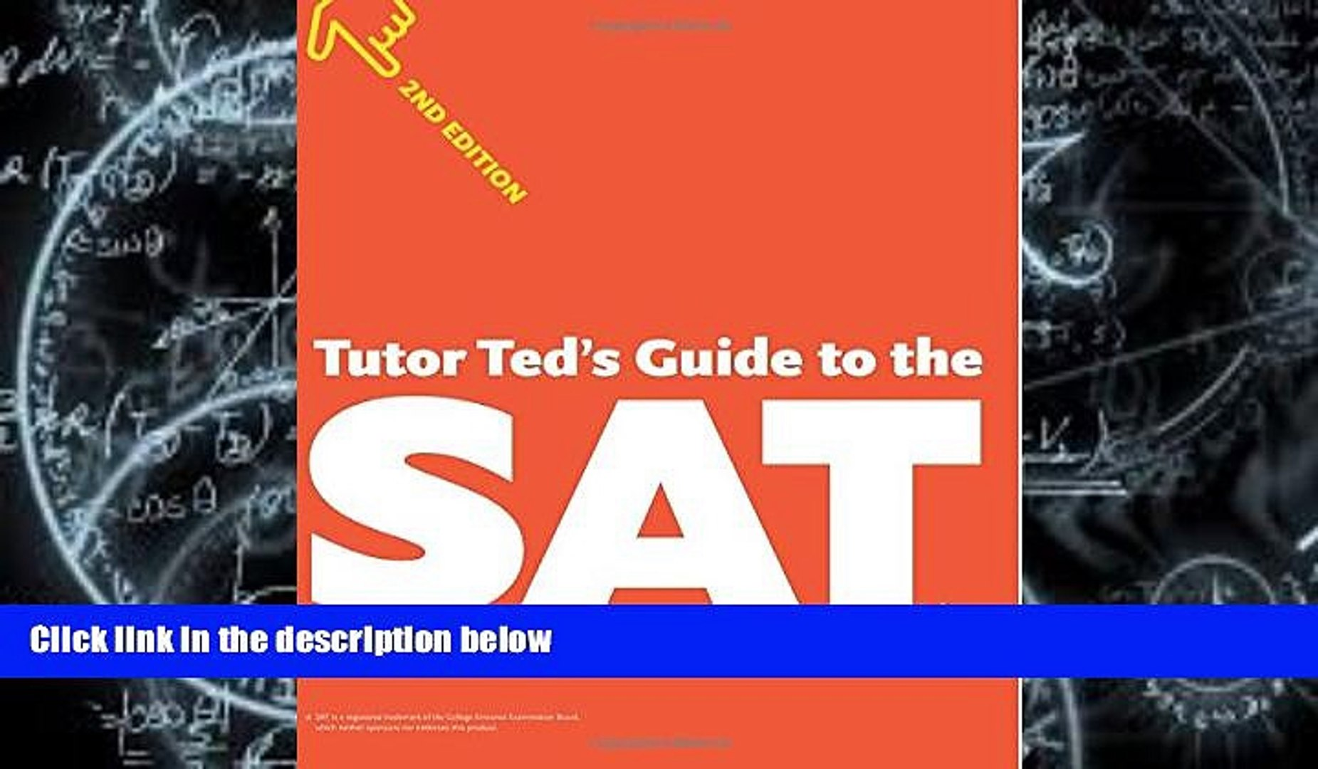 Pre Order Tutor Ted s Guide to the SAT, 2nd Edition Ted Dorsey mp3