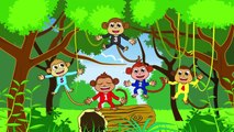 Five Little Monkeys jumping on the bed | Baby songs and learning videos for Toddlers & Preschoolers