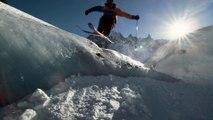 Backyards Project : Session de ski dans les tunnels de la Mer de Glace par Sam Favret