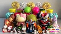 PLAY DOH SURPRISE BALL, Hello Kitty, Dalmatians, Thomas and Friends   Kids Fun Toys Videos HD