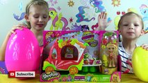 Giant Surprise Eggs Shopkins & New Exclusive Shoppies Pineapple Lily