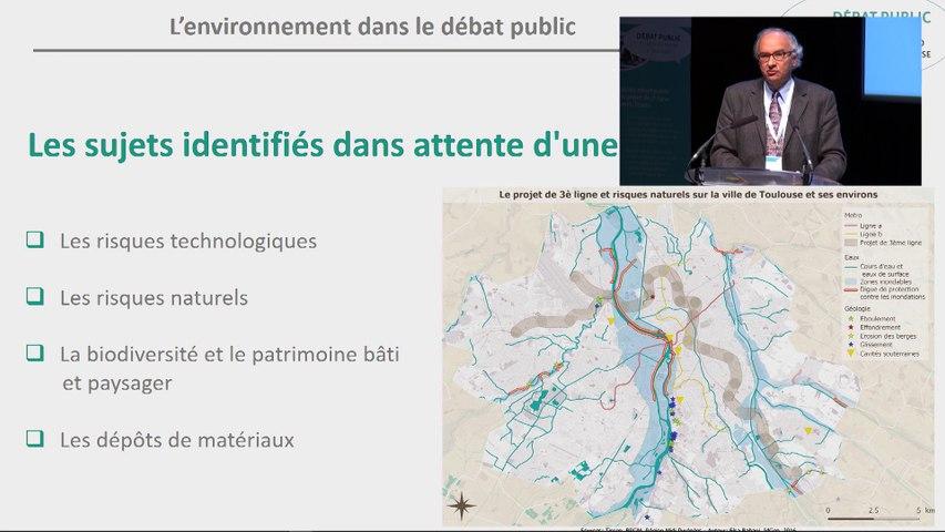 Observations recueillies en matière d'environnement par J. Laurent & parole à la salle