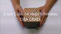 3 sun Cube 14 steps Ichimatsu / Japanese puzzle box