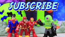 Ion Alien Headquarters Imaginext Superman and The Flash Fight Alien with Batman Super Overlord