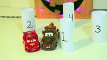 Disney Cars Mater Driving Backwards with Play Doh Mirrors Lightning McQueen Halloween Fun Game