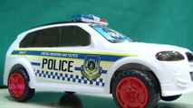 Police toy car with lights and siren Toy unboxing Police Car Fire Truck ride on police chase YOYO