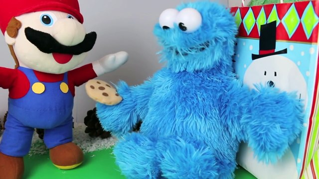 Cookie Monster and Mario Gift Exchange Pizza Cutter and Cookie Cutters Sesame Street Toys